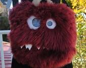 Large Nomnom Monster Furry Messenger Bag --Brawley