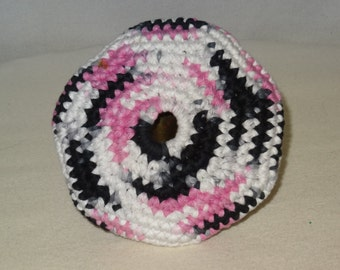 Pink Black and White Pocket Frisbey Fun in The Sun Frisbee For Your Dog
