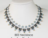 BEE HoneyComb SuperDuo Kehops and OBeads Beadwork Necklace Pdf tutorial instructions for personal use only