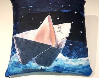 Starry Night Origami Pillow,