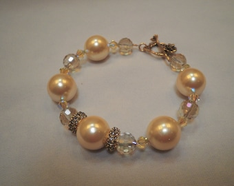Place Yellow and Blue Crystal Bracelet