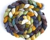 Polwarth/Silk Roving - Handpainted Spinning or Felting Fiber, World of My Own