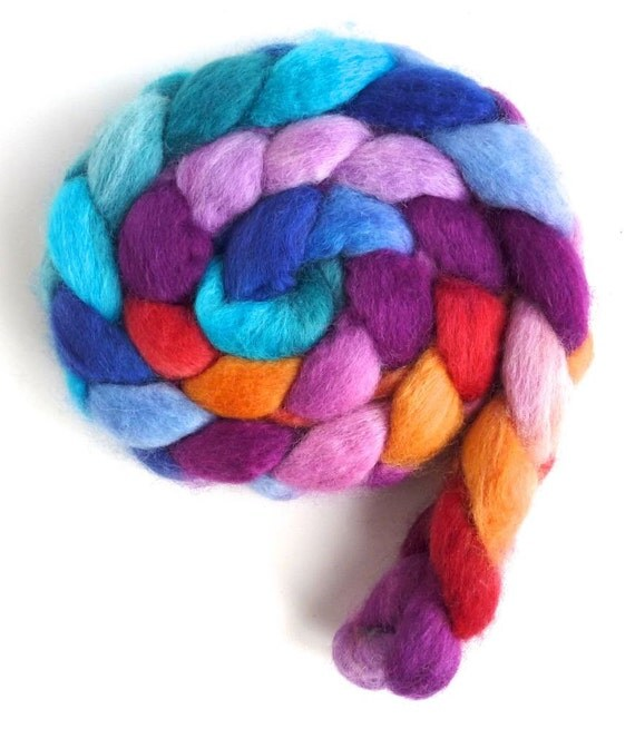 Color Music, Pre-Order CTA Spin-Along, BFL Wool Roving - Hand Painted Spinning or Felting Fiber