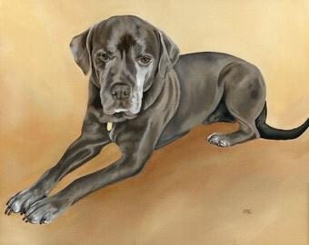 Custom Pet Portrait Painting from Photograph, Pet Memorial Painting, size 16 x 20, Custom Dog Art, Dog Lover Gift, Pet Portrait Painting