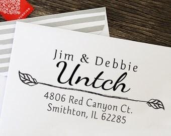 Return Address Stamp, Address Stamp, Self Inking Address Stamp, Calligraphy Address Stamp, Wedding Gift - 1000