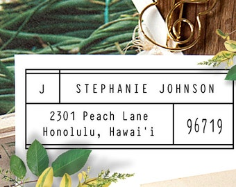 Self Inking Custom Rubber Stamp Address, Custom Return Address Stamp, Self Inking Stamp, Personalized Rubber Stamp, Wedding Gift  - 1055