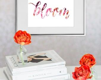 Bloom Floral Watercolor ARCHIVAL ART PRINT