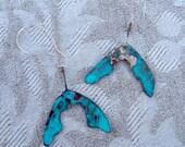 Handforged maple seed earrings