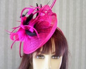 "Pink Kentucky Derby Fascinator Hat, Belmont Stakes, Wedding, Burlesque Fascinator ""Pink Dream"""
