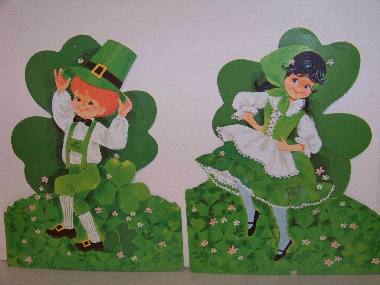 Vintage St. Patrick's Day Lad Lassie Dancing Eureka Wall Decoration 1960 1970