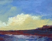 Mini 1631, original painting, oil, landscape, 100% charity donation, Cancer Research