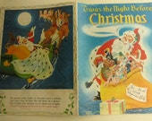 Vintage Twas the Night Before Christmas Published by Samuel Lowe Illustrated by Nino Carbe