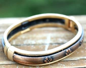 Brushed Metal Bangle Bracelet