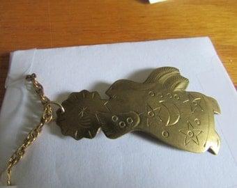 handmade brass angel necklace