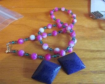 pink purple necklace