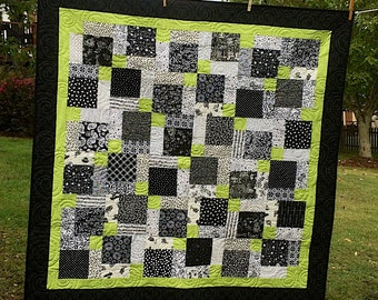 Price Reduced Black and White and Green - Oh my!