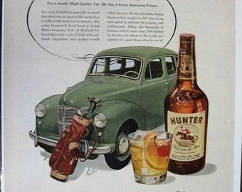 123 Hunter Whiskey Ad - 1951