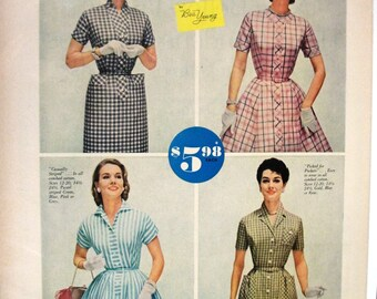 """FAS-L 177   """"Dan River Wrinkl-Shed Cottons""""  Ad -   January 1957"""