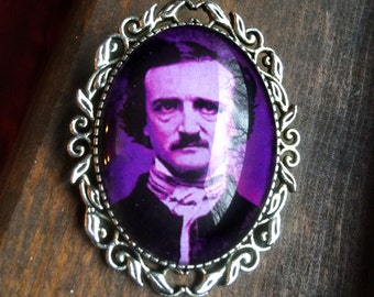 Edgar Allan Poe Brooch Pin // Edgar Allen Poe // SALE  // Poe Cameo // Poe Brooch