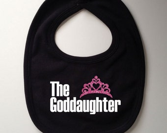 The Goddaughter Bib - Baby Gift, Baby Shower Gift, Christening Gift