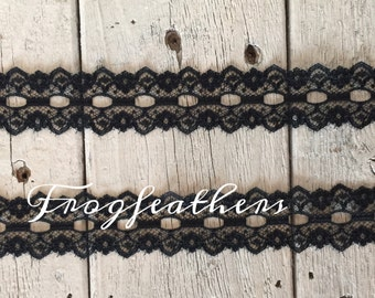 BLACK LACE BEADING -1 inch 4 yards for 2.49