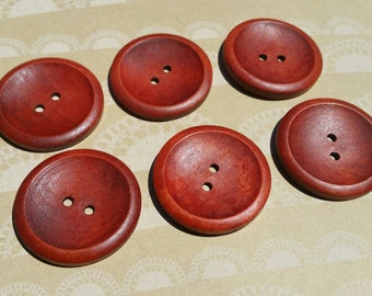 "Large Wood Buttons - Big Wooden Button - Bulk Buttons Sewing - 1 9/16"" Wide"