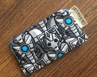 Cyberman Small Zippered Pouch