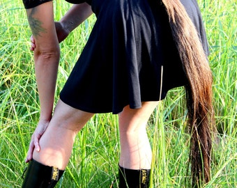 Horse tail - real wearable brown horse hair totem dance tail on carabiner