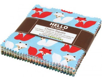 Woodland Pals 2 COMPLETE Collection - 42 piece 5 Inch Charm Square Charm Pack Bundle - Ann Kelle Robert Kaufman Fabric