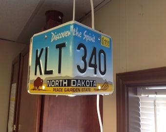 License plate hanging lamp!