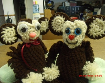 Curious Baby Monkeys - Sold as a set or singles..Awesome for Christmas stocking stuffers
