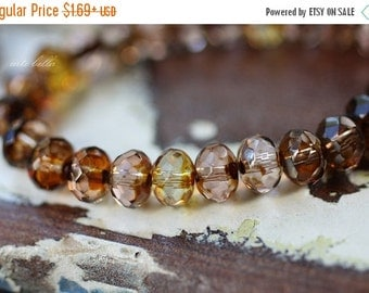 10% off SPRING DAY .. Picasso Czech Rondelle Glass Bead Mix 6x4mm (2554)