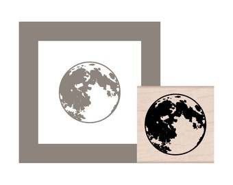 NEW for 2016 Moon Rubber Stamp