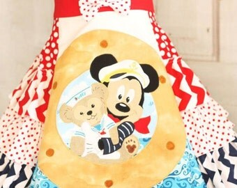 Duffy Mickey Disney Cruise Dress sizes 4 5 6 7 8 9 10