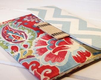 Kindle Case|Kindle Sleeve|Nook Glowlight Case|Nook Case|Samsung Sleeve|Kindle Paperwhite Case|in Garden Path Paisley and Blue Chevron