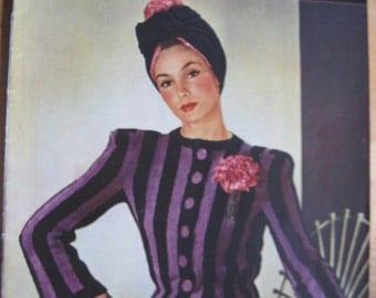 Stitchcraft November 1941 - Vintage 1940s Magazine - WW2 Wartime - Knitting Crochet