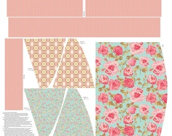 Chatsworth Apron Panel in Mint ~ Gorgeous Florals ~ Designed by Emily Taylor for Riley Blake Designs