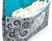 Coupon Organizer Holder  Purse Organizer Grey Silver Magical Fabric