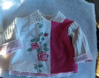 Chenille and Vintage embroidery toddler jacket