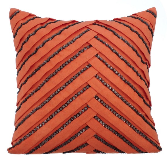 orange couch cushion covers 16 x 16 pillow covers orange suede. Black Bedroom Furniture Sets. Home Design Ideas