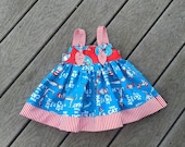 Dr. Seuss Dress, Girls Knot Dress, Dr Seuss Birthday,  Infant, Toddler, Girl, Girls Knot Dress, Groovy Gurlz, Cat in The Hat Dress