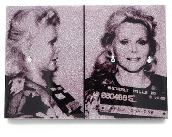 Zsa Zsa Gabor Glamourizing Crime art plaque