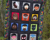 Superheroes of Color - DIY - Quilt Blocks - PDF