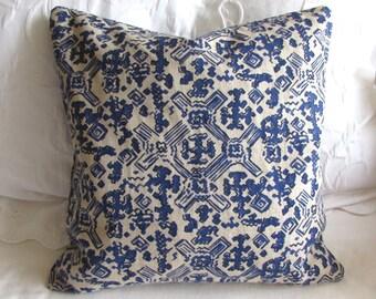 Nomad Indigo Blue fabric decorative Pillow Cover 18x18 20x20 22x22 24x24 26x26