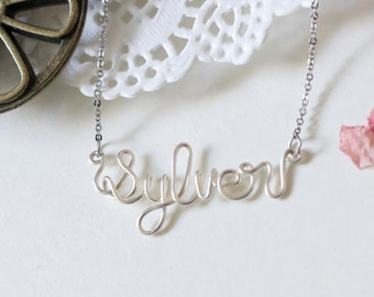 Name Necklace, Wire Name Necklace, Custom Name Necklace, Personalized Name Necklace, Name, Personalized, Gift, Friendship