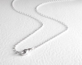 30 Inch Long Necklace Chain, 76 cm Sterling Silver Chain, Rolo Links