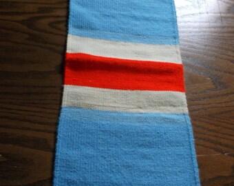 Handwoven Runner (Bleu-A'-Rouge)-115b