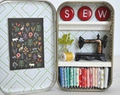 """Tiny Tin Sewing Room ~ """"SEW"""" Sign"""