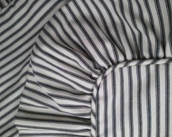 European Ticking Stripe Sham With Ruffle