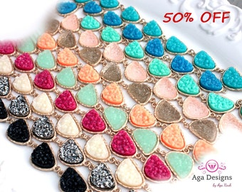 SALE only today ~ Druzy bracelet - pick your color